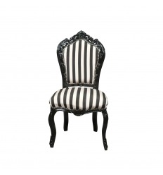 Baroque chair with black and white stripes