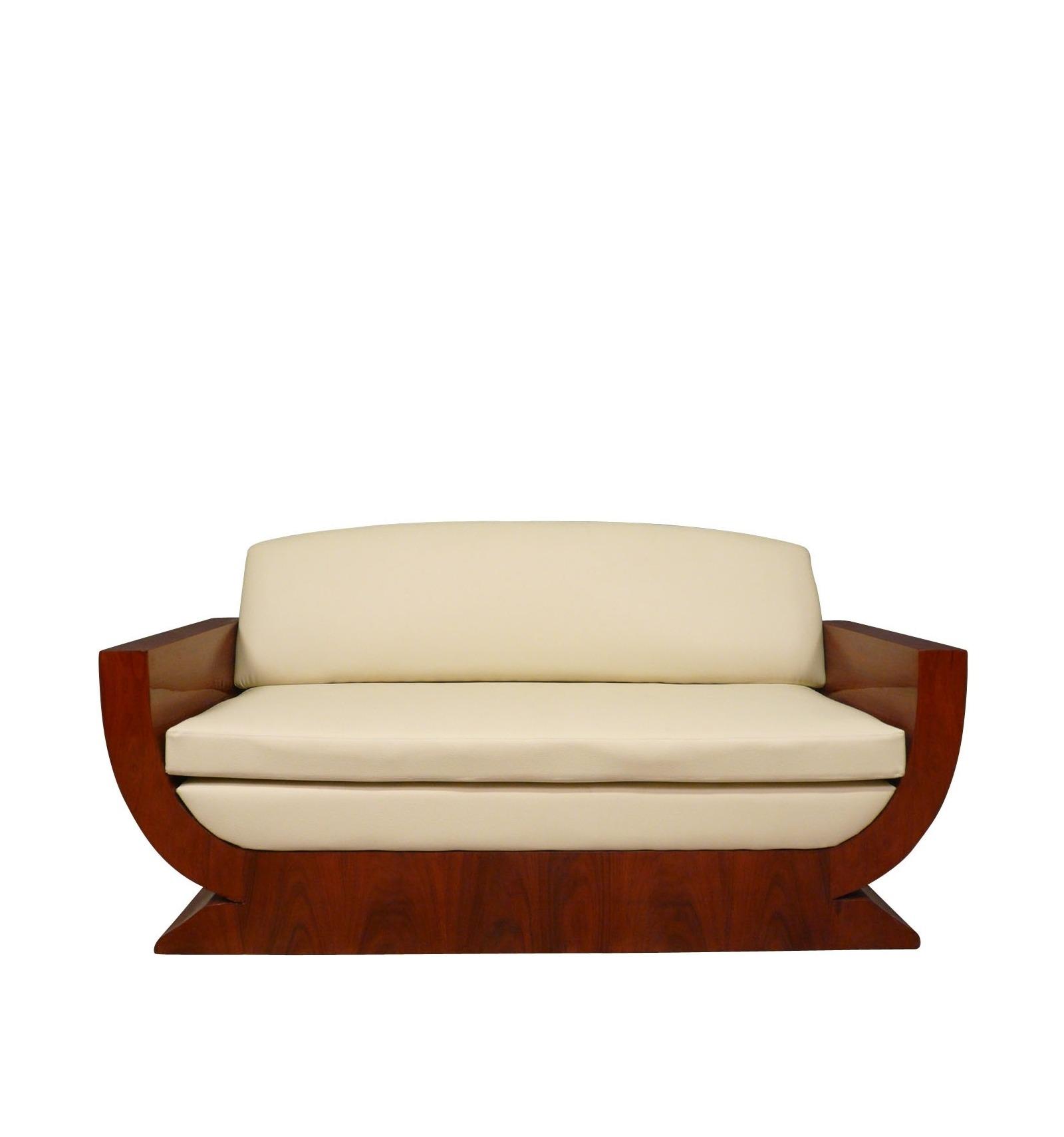 canap art d co en palissandre meubles art d co. Black Bedroom Furniture Sets. Home Design Ideas