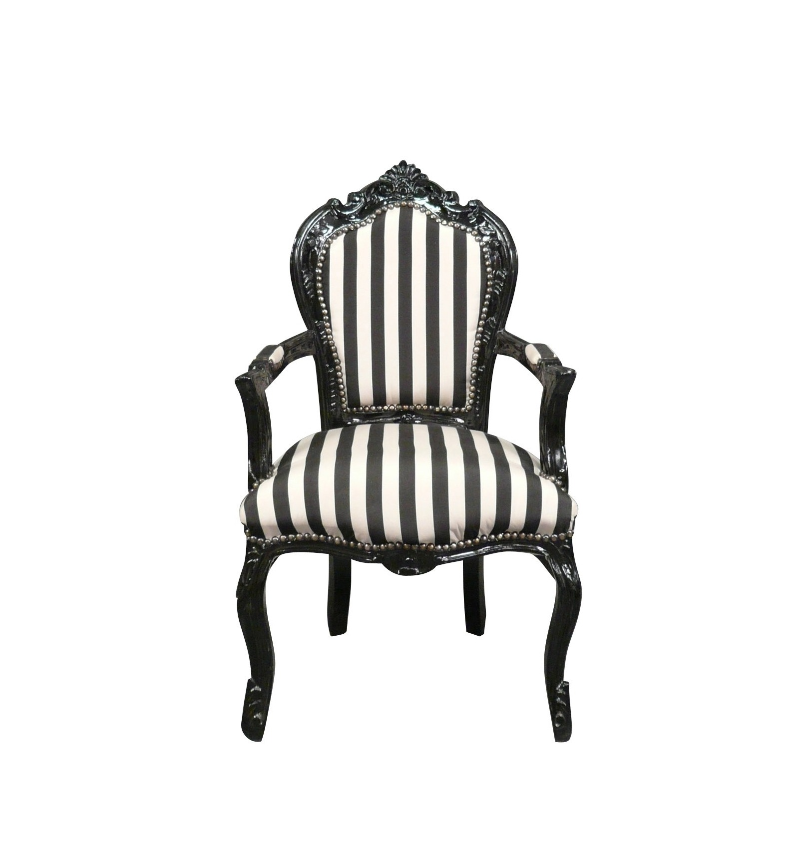 fauteuil baroque noir et blanc vente de mobilier de style. Black Bedroom Furniture Sets. Home Design Ideas
