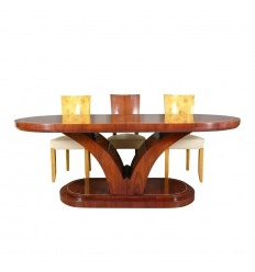 Table art deco in rosewood