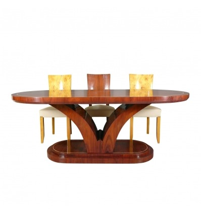 Art deco table in rosewood