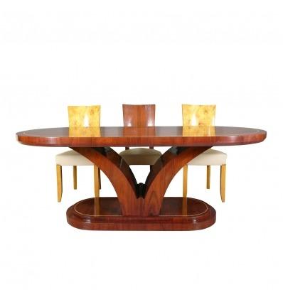 Tavolo in palissandro art deco