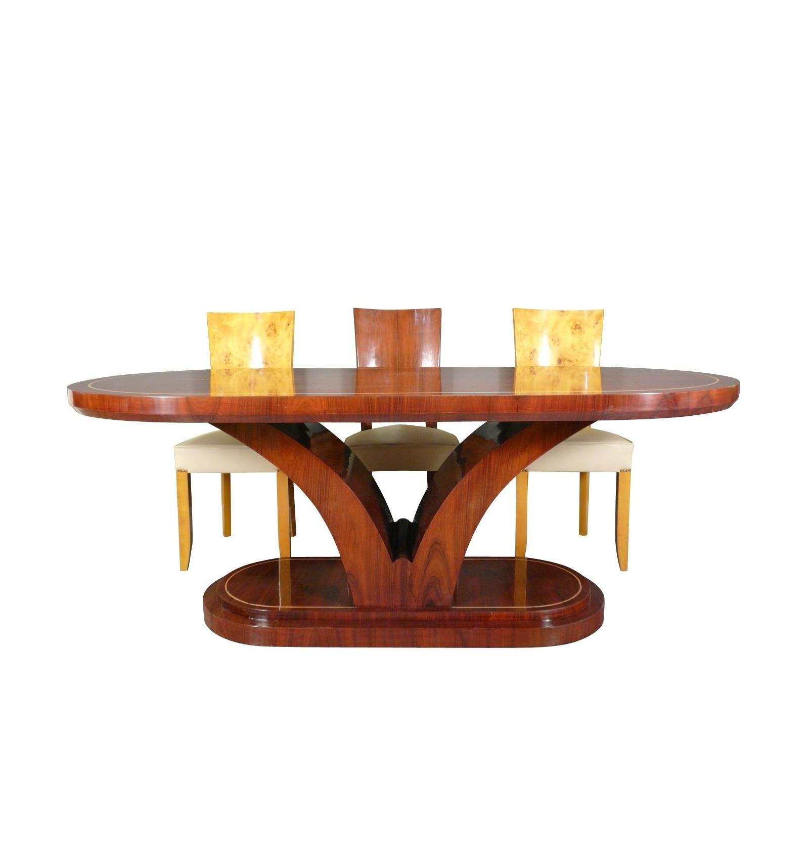 Tavolo Pranzo Art Deco tavolo art deco in palissandro - mobili per la sala da pranzo