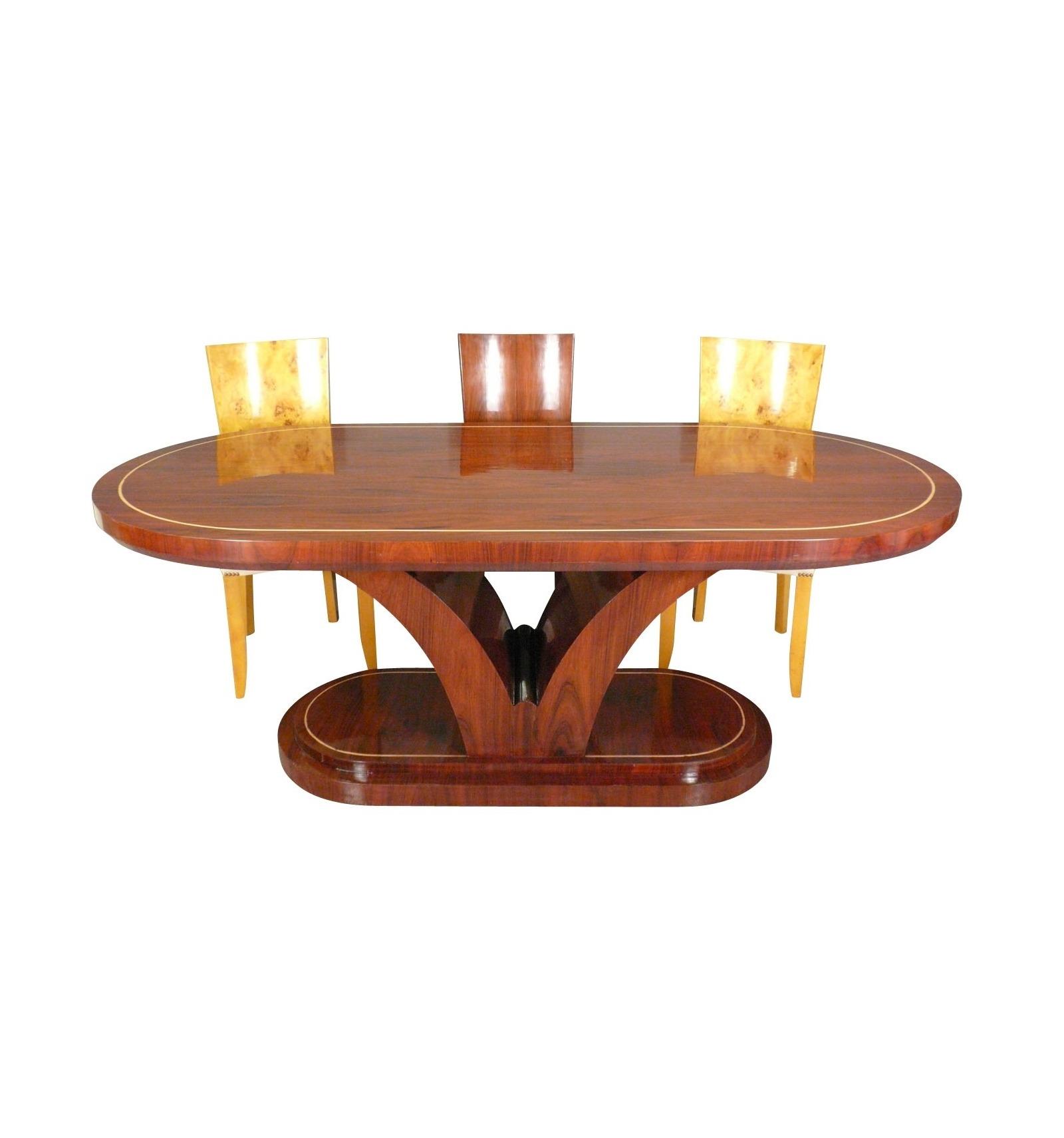 tisch art deco rosenholz art deco m bel. Black Bedroom Furniture Sets. Home Design Ideas