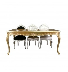 Baroque gold wooden table