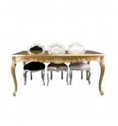 Mesa de madeira dourada barroca