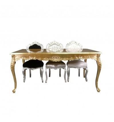 Mesa barroca en madera dorada.