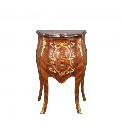 Cómoda Luis XV - Mesita de noche y muebles art deco