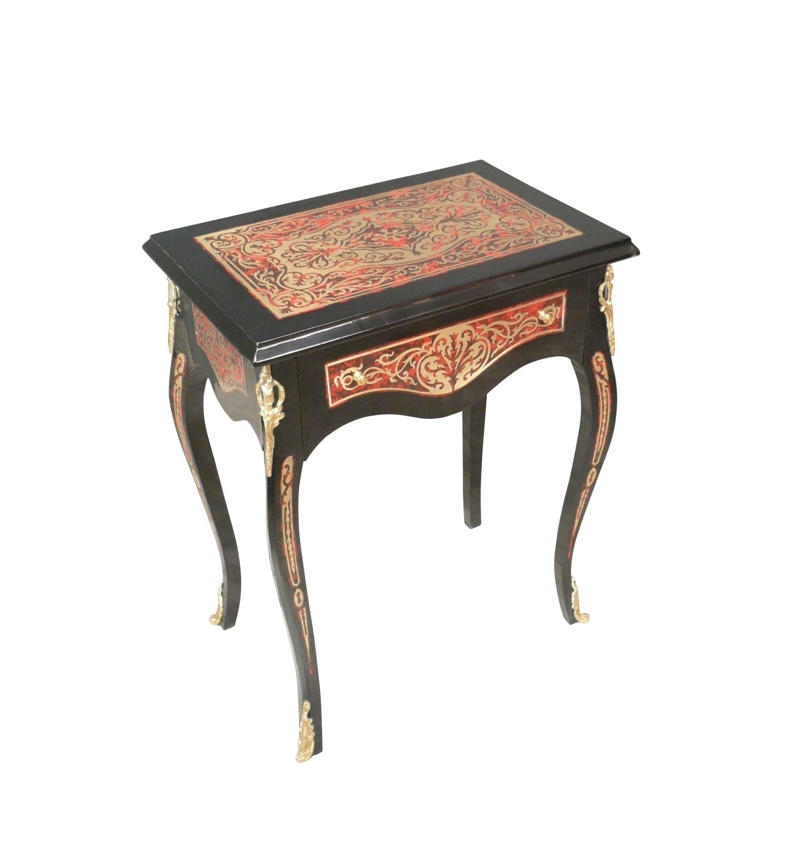 Pedestal table louis xv boulle style furniture - Table louis xv ...