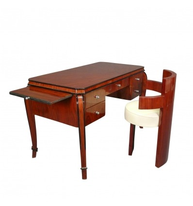 Mahagoni-Art Deco-Schreibtisch