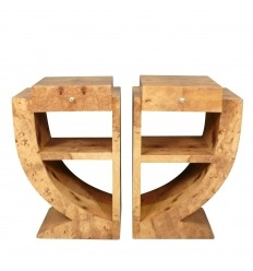 Pair of bedside tables Art Deco