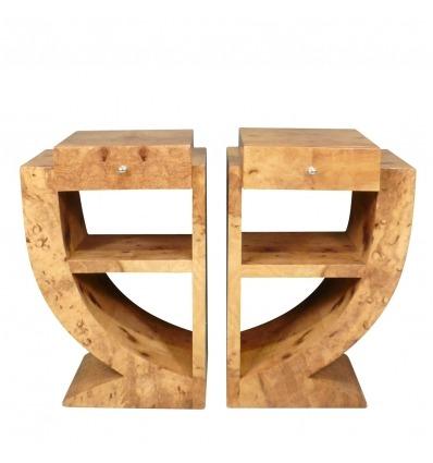 Paar Art Deco Nachttische - Möbel -