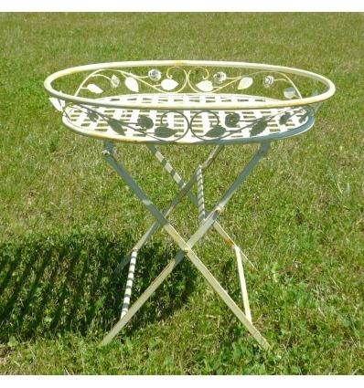 Fioriera in ferro battuto per le piante, tavoli e mobili da giardino -
