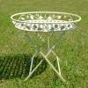Jardinera de forja para plantas, mesas y muebles de jardín. -