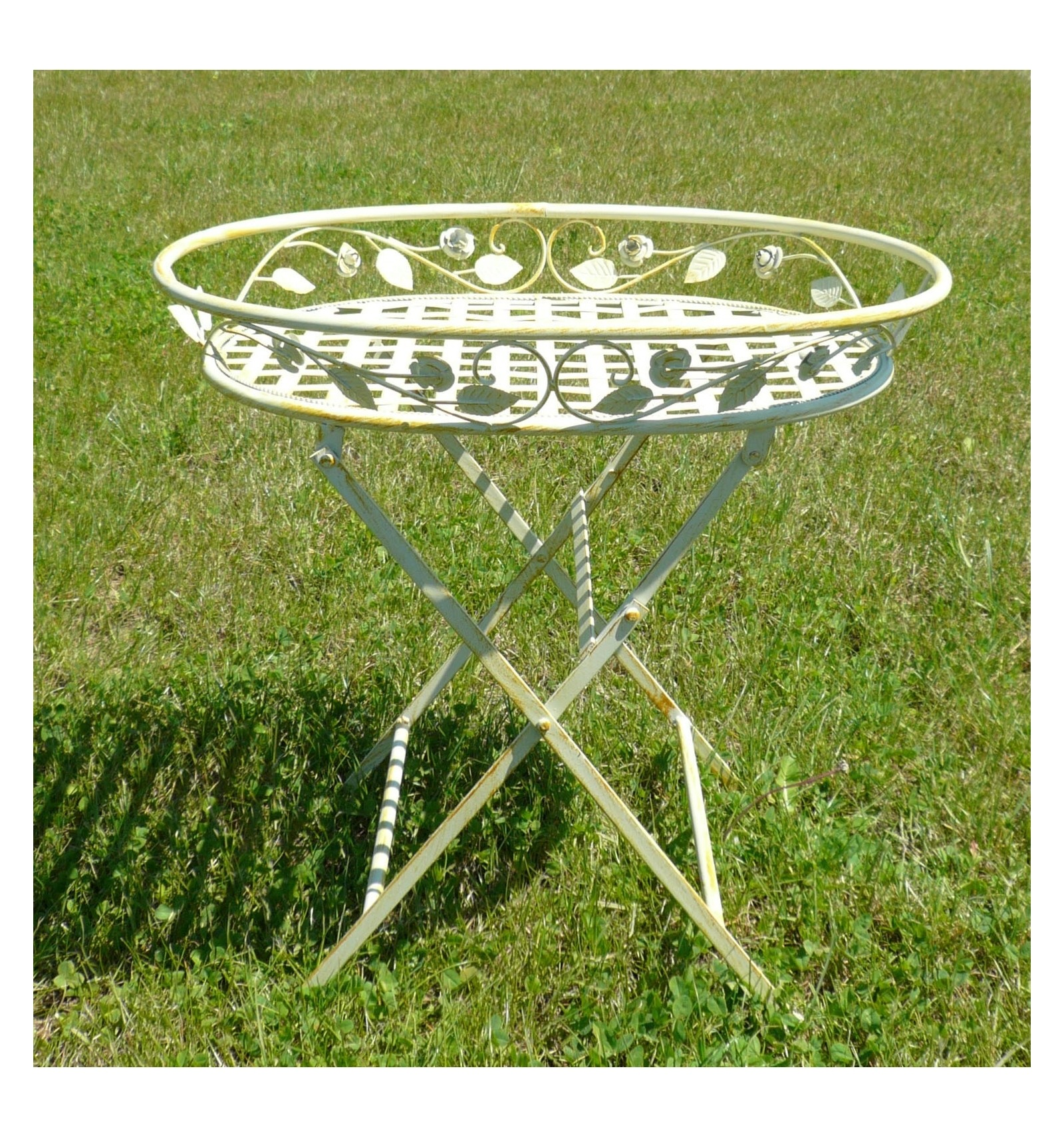 Jardinera de plantas mesas de hierro forjado y muebles de - Muebles de hierro forjado para jardin ...