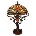 Lampa Tiffany - serien Indiana - armaturer och barock fåtölj -