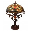 Tiffany Lamp - Indiana Series - Baroque Lighting and Armchair -