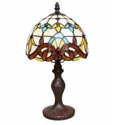 Lampe Tiffany - Serie Paris - H: 36 cm