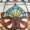 Lámpara Tiffany con pantalla de vidrio