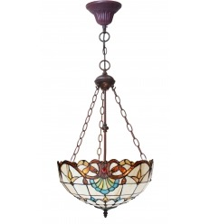 Lampadario Tiffany - Serie Paris in stile liberty