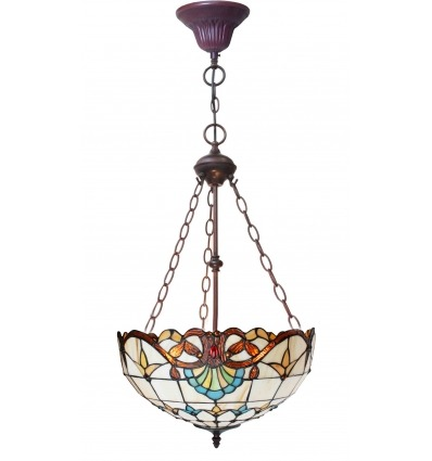 Lampadario Tiffany - Serie Paris in stile liberty -