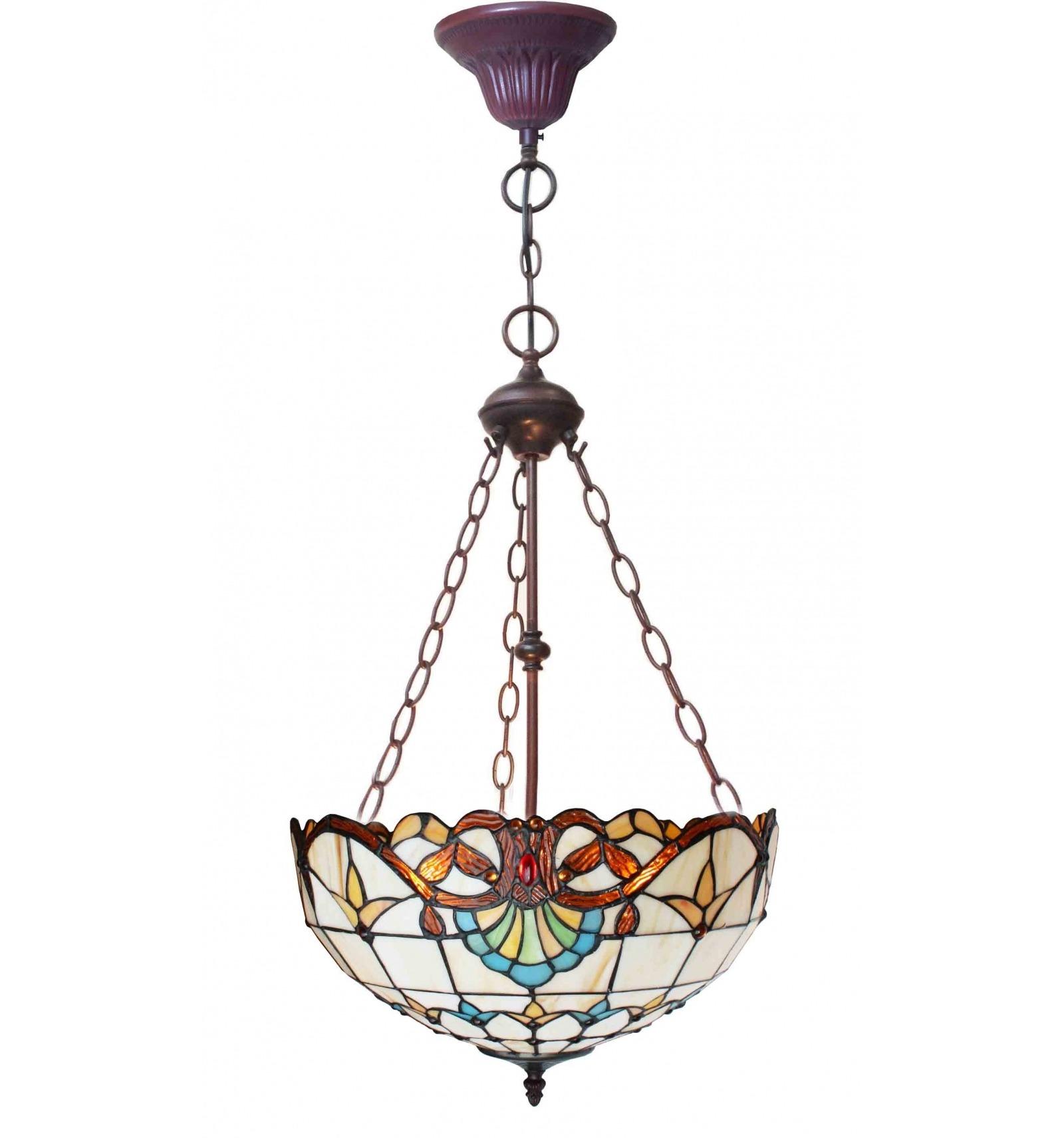 Lampadario Tiffany - Serie Paris in stile liberty