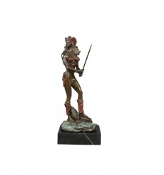 Statua in bronzo di un amazon