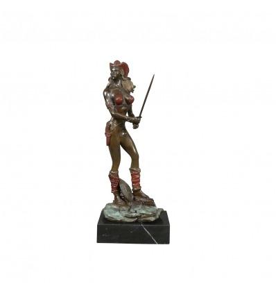 Statua in bronzo di un amazon