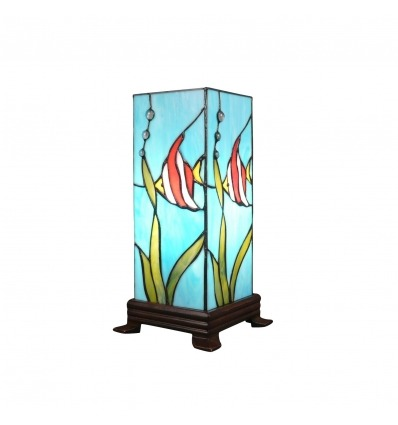 Tiffany lamp in the form of posisson column
