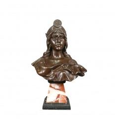 Busto de bronce de diane