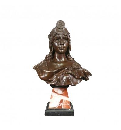 Diane rintakuva bronze - patsas