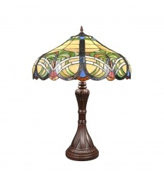 Tiffany bordlampe Barok