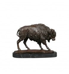 Statue en bronze - Le bison