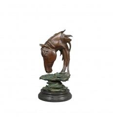 Busto di cavallo in bronzo Scultura - Statua