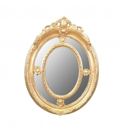 Louis XV Spiegel aus vergoldetem Holz -