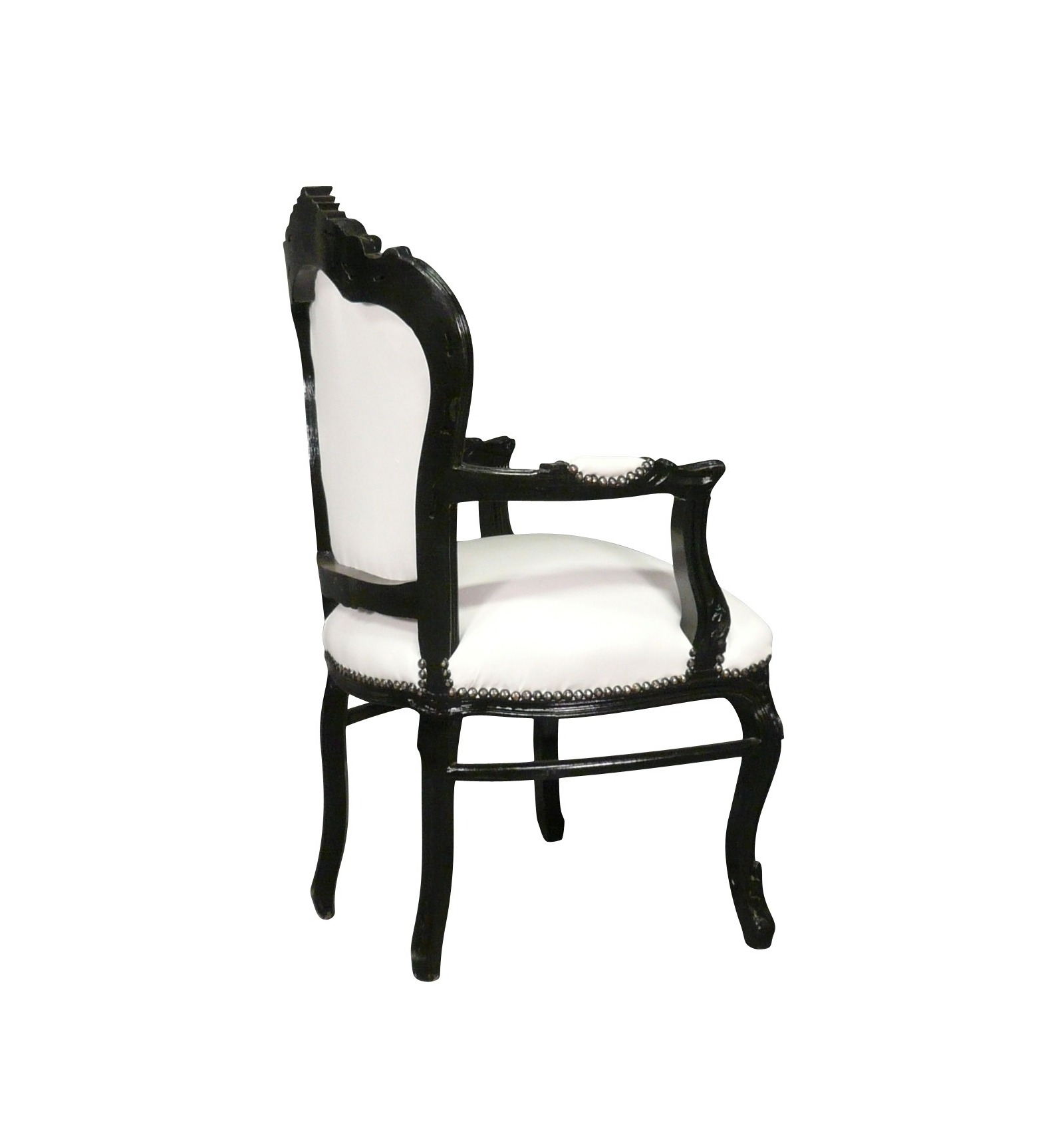 fauteuil baroque noir et blanc vesoul mobilier art d co. Black Bedroom Furniture Sets. Home Design Ideas