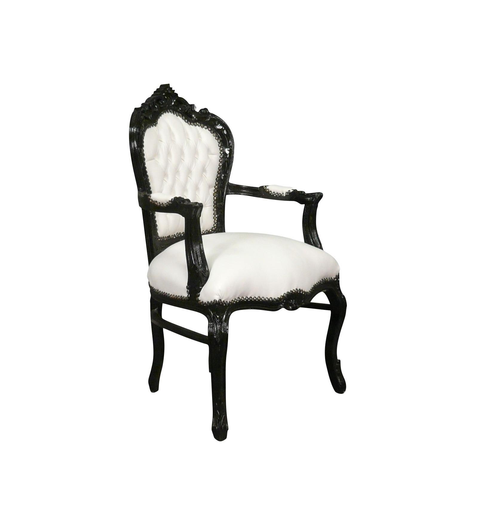 fauteuil baroque noir et blanc vesoul mobilier art d co. Black Bedroom Furniture Sets. Home Design Ideas