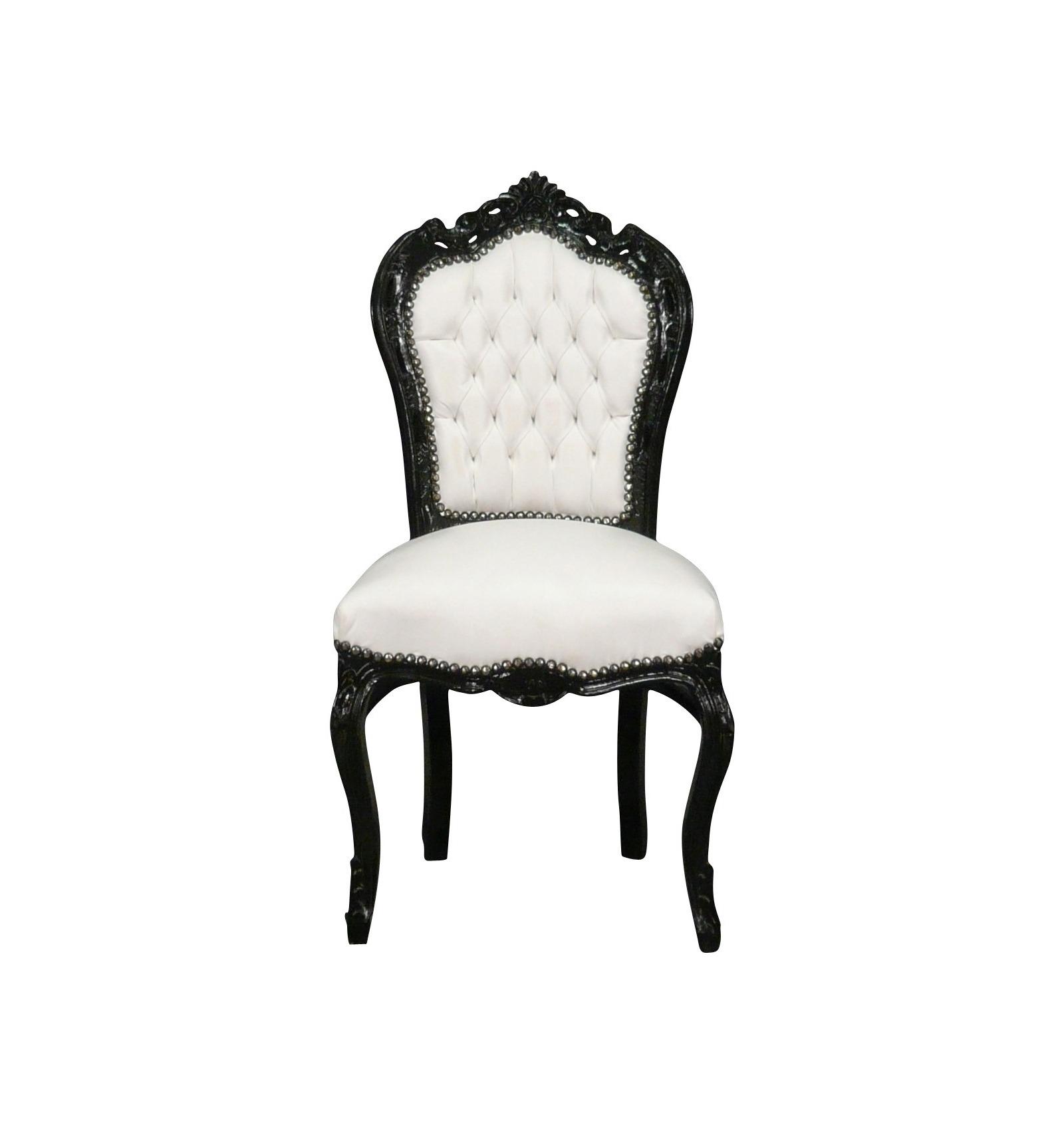 Chaise Baroque Noire Et Blanche Vesoul