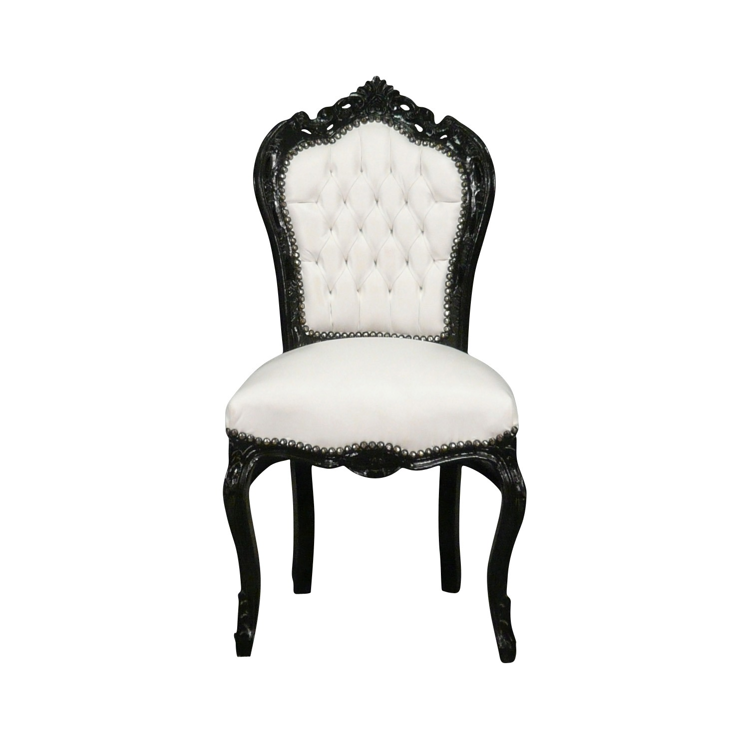 htdeco chaise baroque noire et blanche s rie vesoul. Black Bedroom Furniture Sets. Home Design Ideas