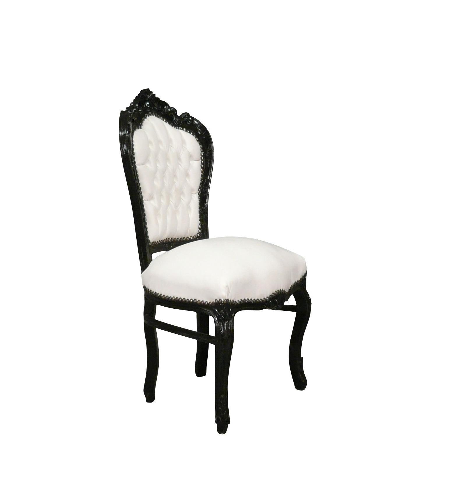 Htdeco - Chaise baroque blanche ...
