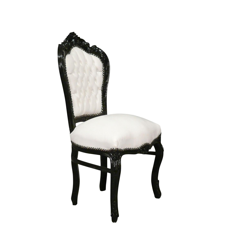 htdeco chaise baroque noire et blanche s rie vesoul. Black Bedroom Furniture Sets. Home Design Ideas