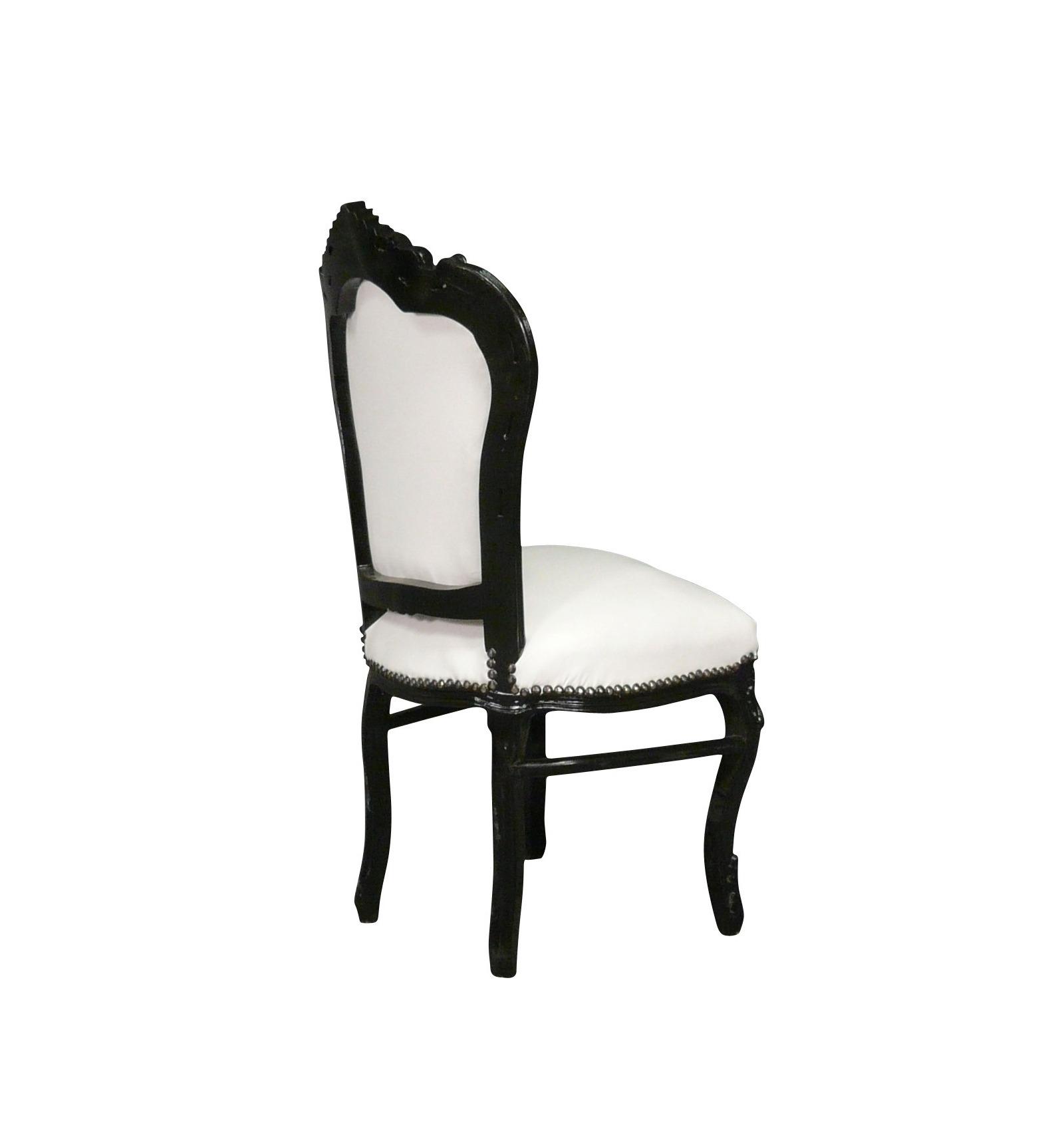 Barock Stuhl schwarz weiß Serie Vesoul Barocke Stühle