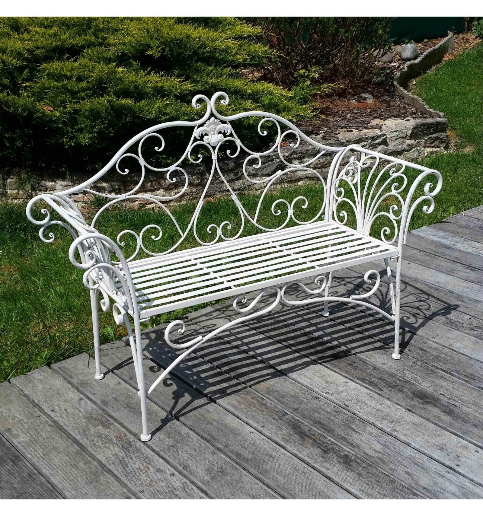 Banco de hierro forjado - muebles de jardín en hierro forjado