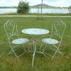 Set di bistro in ferro battuto, mobili da giardino, sedia, tabella