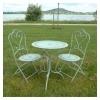 Wrought iron bistro set, garden furniture, chair, table