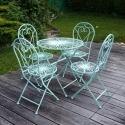 Gartenmöbel aus Schmiedeeisen - Stuhl und Tisch