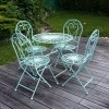 Wrought iron garden furniture - Chair and table