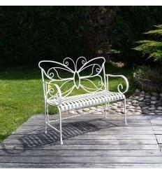 Panchina da giardino in ferro battuto