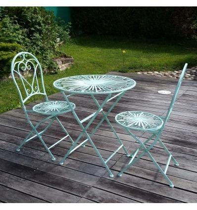 Salon de jardin en fer forg 2 chaises - Chaises de jardin en fer ...