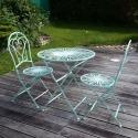 Schmiedeeiserne Gartenmöbel - 2 Stühle